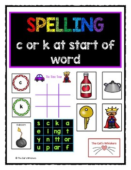 Spelling c or k at the start of a word