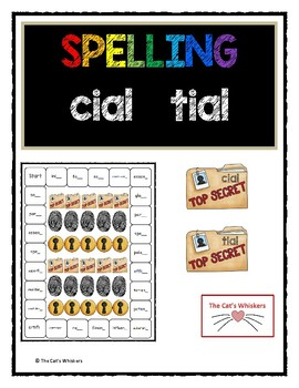 Spelling cial and tial words