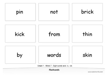 Spelling for Grade 1 - Week 2 - Sight words and -an, -ap (Bundle)