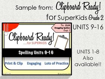 Spelling for SuperKids: Grade 2 UNIT 12 week 1 *FREE SAMPLE*
