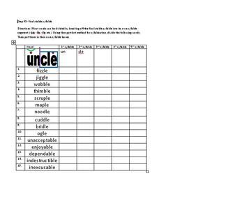 Spelling for intermediate students
