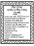 Spelling group activity checklist