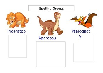 Spelling group chart