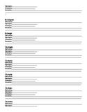 Spelling homework packet