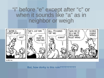 Spelling ie and ei Words Power Point Lesson