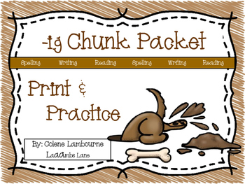 Spelling -ig Family Chunk Packet