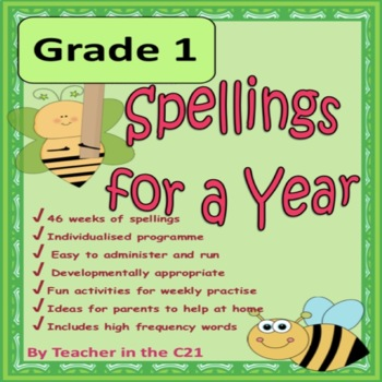 Grade 1 Spellings For A Year