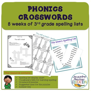 No Prep Spelling lists and phonics review