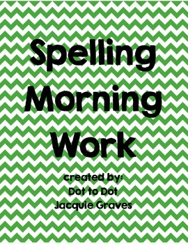 Spelling morning work