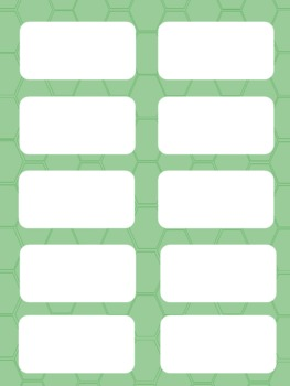 Spelling or Vocabulary Template-Editable