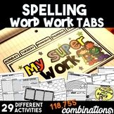 Spelling or Word Work Tab Activities- Back to School