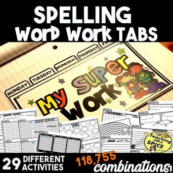 Spelling or Word Work Tab Activities- Back to School