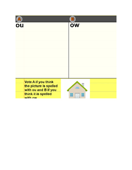 Spelling ou/ow flipchart