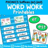 Phonics Literacy Center & Flip Book (suffixes '-er' and '-est')