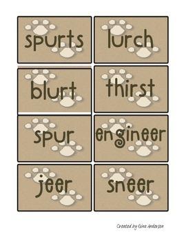 Spelling pattern ur, er, ir, ear
