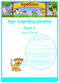 Spelling practice booklet Year 3 Term 3