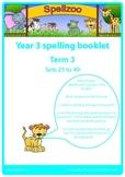 Spelling practice booklet Year 3 Term 3