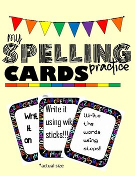 Spelling practice flashcards for any list of words