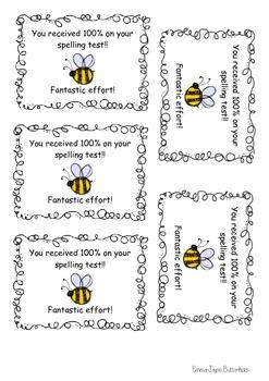 Spelling test 100%