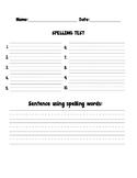Spelling test outline