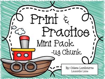 Spelling -ug Mini Chunk Packet