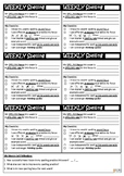Spelling weekly checklist