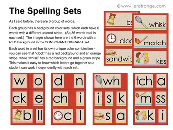Spelling with Digraphs - 216 words with Movable Alphabets (Photo Printing)