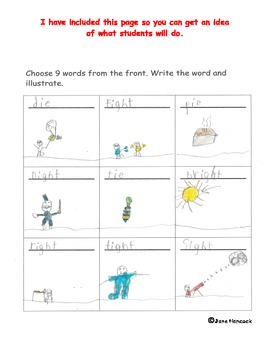 Spelling with Digraphs ie and igh (long i)