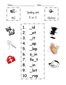 Spelling with K or C