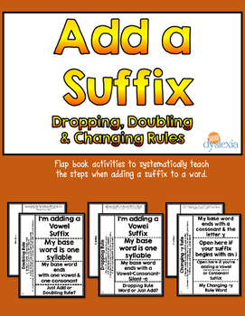 Spelling with Suffixes: Dropping, Doubling and Changing -y Flap Books