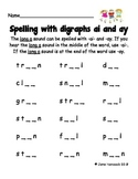 Spelling with Vowel Digraphs ai and ay