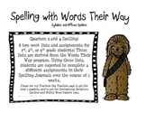 Spelling with Words Their Way: Syllable Affix, Second Semester