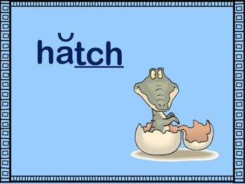 Spelling with ch and tch PowerPoint & Printables