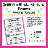 Spelling with -ck, -ke, -k, & -c Posters - Reading Horizons