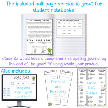 Differentiated Spelling Words and Letter for Parents - One Week Freebie