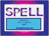 Spelling words practice SMART notebook lesson