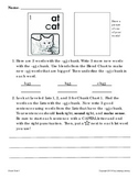 Spelling, writing, and reading with chunks and blends - Chunk Chart 1