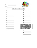 Spelling/Academic Vocabulary Test Template - Free