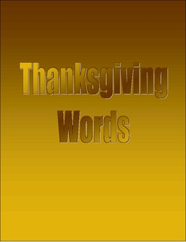 SpellingPractice - Thanksgiving Words
