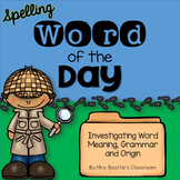 Word of the Day Freebie for Big Kids