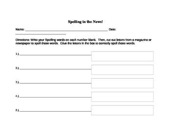 Spelling/Word Work Center
