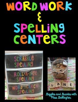 Word Work/Spelling Centers
