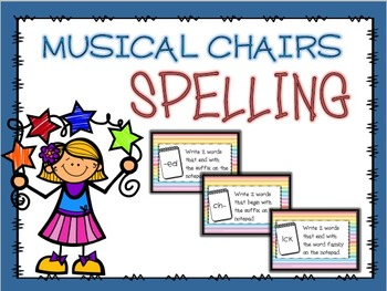 Spelling Musical Chairs GAME