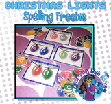 Spelling_Christmas Lights FREEBIE
