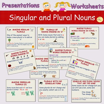 Spellings: Writing Nouns in the Plural & Vice Versa, Presentations, Worksheets