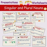Plural Nouns and Singular, Presentations, Worksheets, Cut/Paste