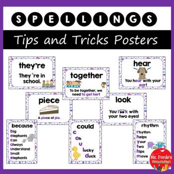 Spellings Tips & Tricks Posters