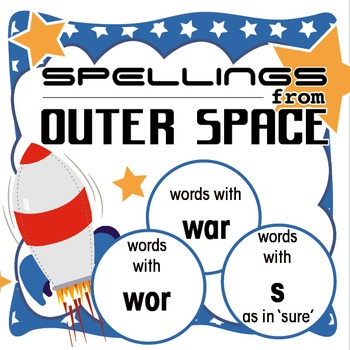 Spellings Year 2: Outer Space Bundle 9: Words containing w
