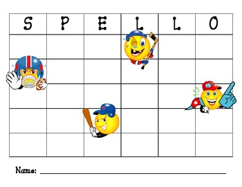 Spello Spelling Game Boards for Literacy and High Frequency words practice