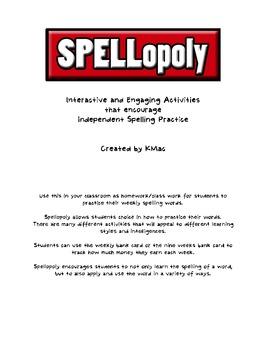 Spellopoly: Creative Spelling Activities